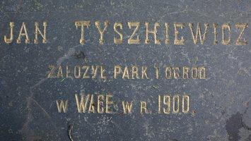 Trakų Vokė · Jan Tyszhkiewicz założył park i ogrod w WAGE w r. 1900