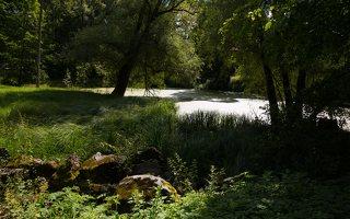 Lentvario dvaras · Andrė parkas, tvenkinys 0162