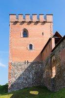 Medininkų pilis · rekonstruotas bokštas 0359