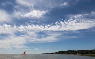 Juodkrantė · debesys, jachta 3425