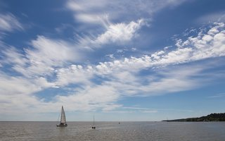"Juodkrantė · debesys, jachta LTU-416 ""Nerija"""