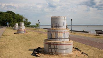 Kuršininkų sakmės · smėlio skulptūros, pradžia 2018-06-03