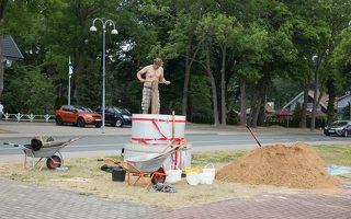 Andrius Sirtautas · smėlio skulptūra, pradžia 2494