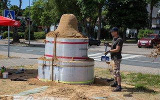 Andrius Sirtautas · smėlio skulptūra, pradžia 2560
