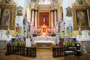 Taujėnų Šv. Kryžiaus Išaukštinimo bažnyčia 4620 · altorius