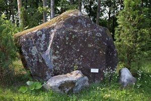 Taujėnų dvaras 4681 · parkas, akmuo