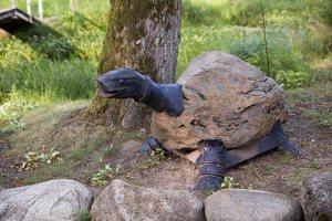 Taujėnų dvaras 4690 · parkas, akmeninis vėžlys