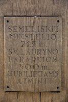 Semeliškių Šv. Lauryno bažnyčia · kryžius 4926