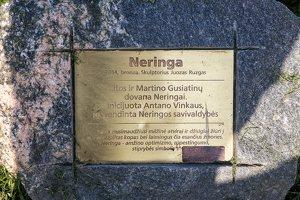 """Nida · skulptūros """"Neringa"""" lentelė 6187"""