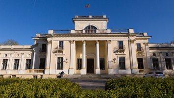 Trakų Vokės dvaro rūmai · kiemo fasadas 6864