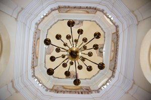 Liškiavos Švč. Trejybės bažnyčia · interjeras, kupolas 4203