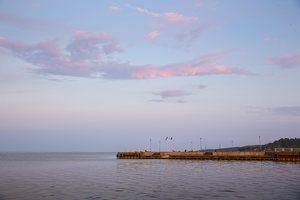 saulėlydis, marios, prieplauka 1284