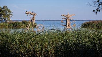 Gintaro įlanka · nendrinės skulptūros 4930
