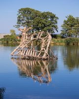 Gintaro įlanka · nendrinės skulptūros 4932