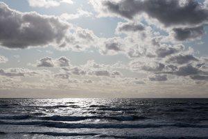 jūra, bangos, debesys 5305
